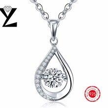 Caliente de la manera colgante de collar para las mujeres larga bailando cz diamond stone choker collar colgante con natural con cadena de plata