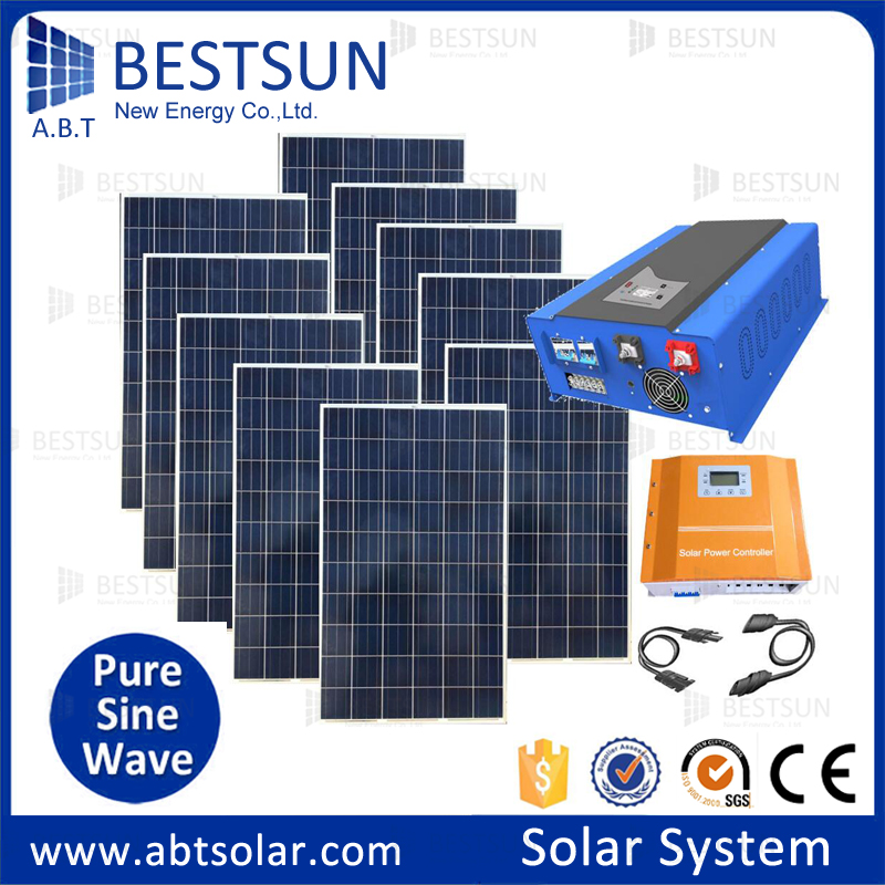 Bestsun 10kw High Efficiency Home Solar System Mppt