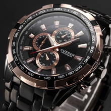 New SALE CURREN Watches Men quartz Top Brand Analog Military male Watc