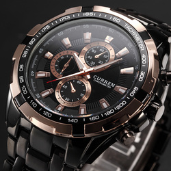 Nova venda curren relógios de quartzo dos homens marca superior analógico militar masculino relógios do exército dos esportes relógio à prova dwaterproof água relogio masculino