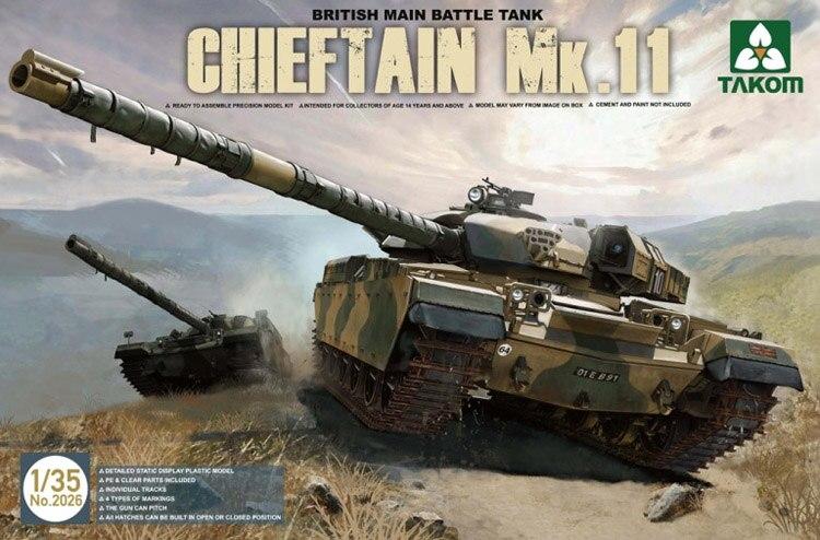 TAKOM 1/35 British Main Battle Tank Chieftain Mk.11 #TAK-2026 (No.2026)