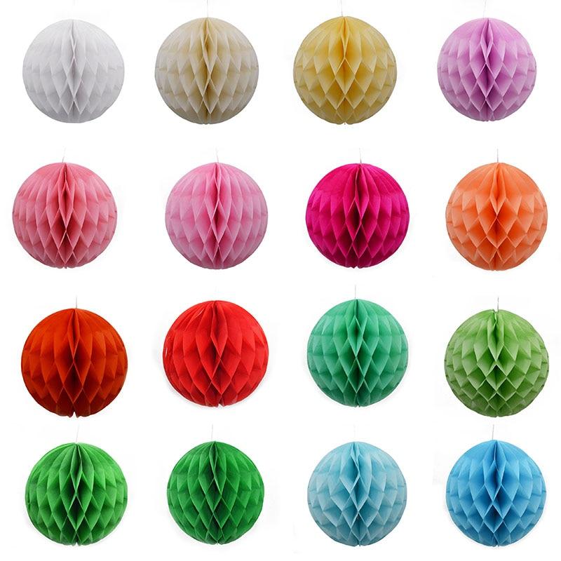 5pcs/lot 5cm/10cm/15cm Honeycomb Ball Paper Flower Poms Wedding Birthday Party Favors Decoration DIY Scrapbooking Craft 8z