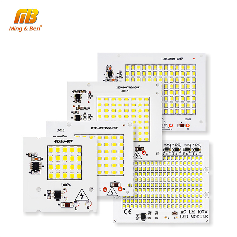 [MingBen] 2pcs LED SMD2835 Chip Beads LED Lamp 10W 20W 30W 50W 100W Smart IC AC220V High Brightness DIY For Outdoor Floodlight high quality 730nm 740nm ir led chip 10w 20w 30w 50w 100w led lamp epileds led chip for detecting sensor laser flashlight