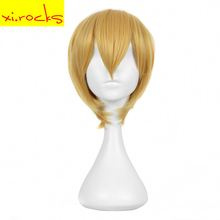 3111 Xi. Rocks Blonde Short Synthetic Wigs Handsome Kise Ryota Cosplay Wig Male Party 30 Cm High Temperature Fiber Hair