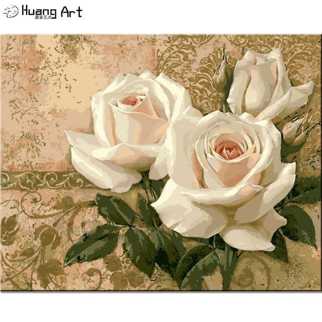 Nombre Peinture Diy Nombre Blanc Rose Peinture A L Huile Sur Toile