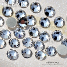 ФОТО clear all sizes ss3-ss20 ss16 ss30 rhinestones for nail art decoration non hot fix crystals glitters diy decor manicure sequins