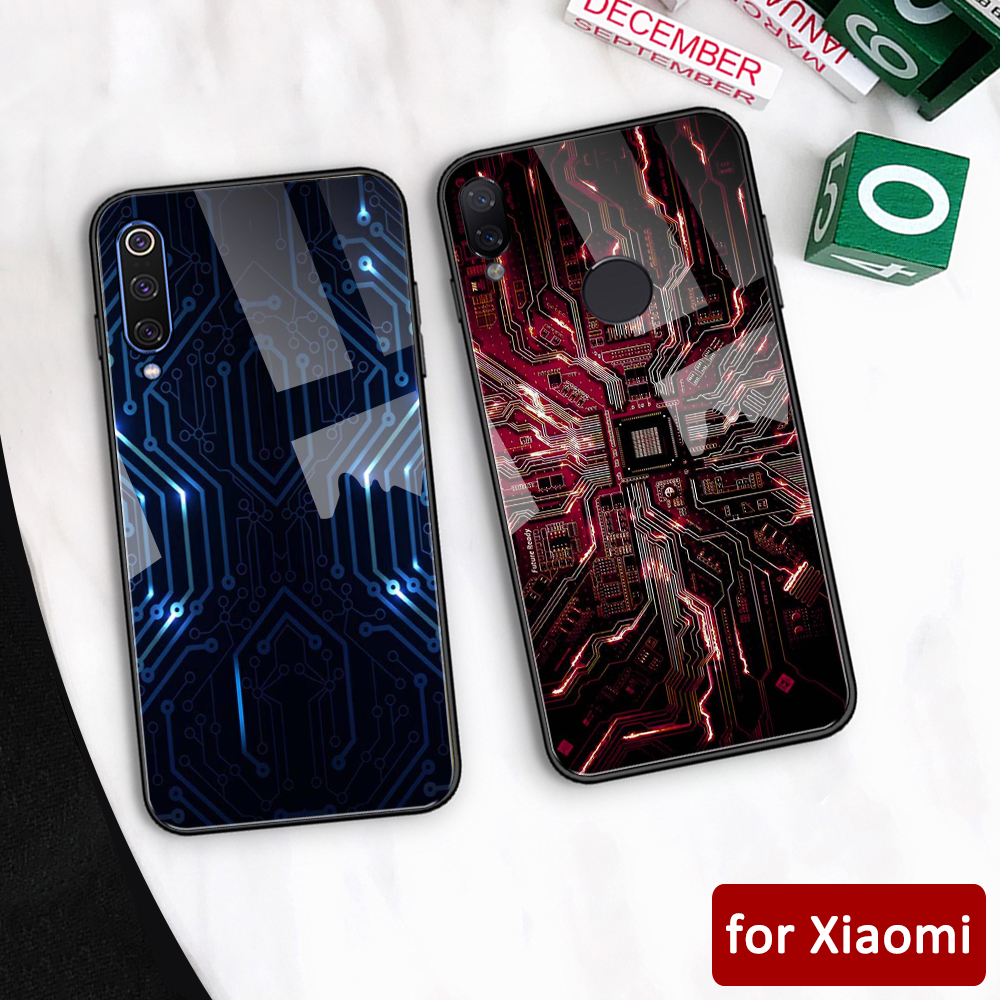 For <font><b>xiaomi</b></font> <font><b>redmi</b></font> note <font><b>7</b></font> case glass <font><b>back</b></font> <font><b>cover</b></font> mi 5 chip case for <font><b>Xiaomi</b></font> mi 5 5s 6 6x <font><b>Redmi</b></font> Note 5 6 <font><b>7</b></font> Mi Max 3 Mi play K20 pro image
