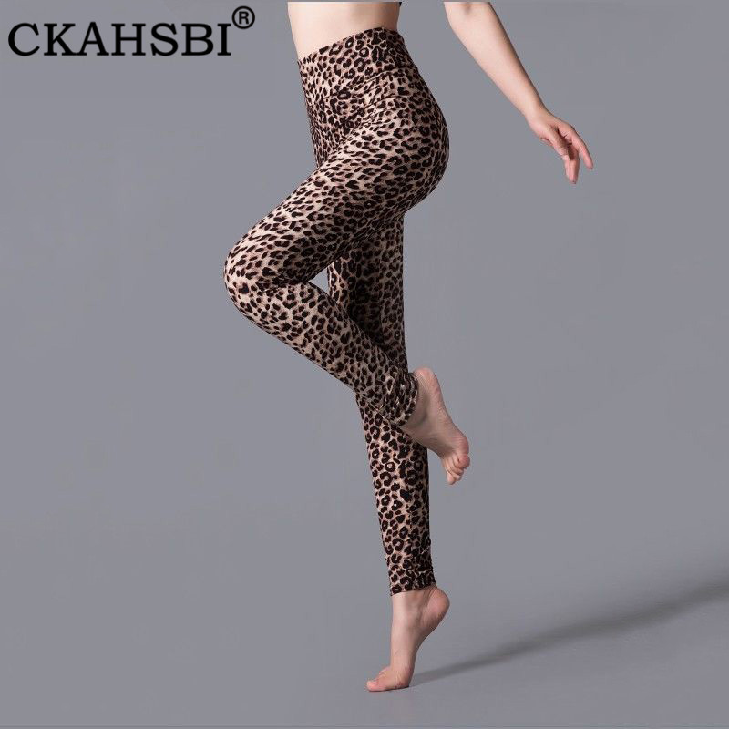 CKAHSBI Yoga Pants Women High Waist Legging Leopard Push Up Legging Elastic Workout Pants Print Tight Gym Fitness Yoga Leggings in Yoga Pants from Sports Entertainment