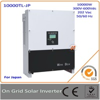Janpan Version 10KW DC to AC on grid solar inverter with MPPT transformerless and communication function, LCD display, IP65!!