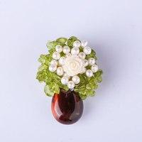 Female Jewelry Brooch Chest Flower Peanut Pin High Grade Hand Made Pearl Korean Brooch Brooch Female