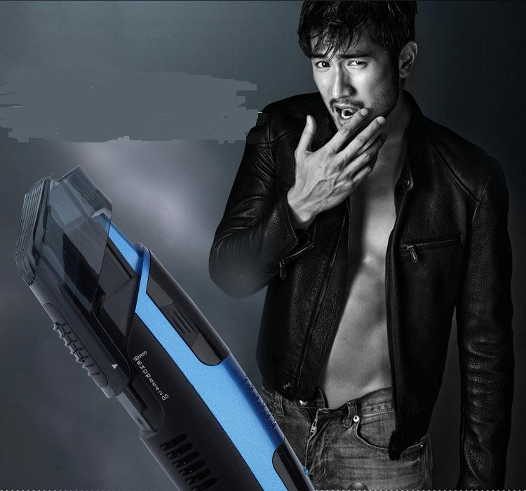 2016 new vacuum system less mess man beard trimmer electric hair removal mustache styling. Black Bedroom Furniture Sets. Home Design Ideas