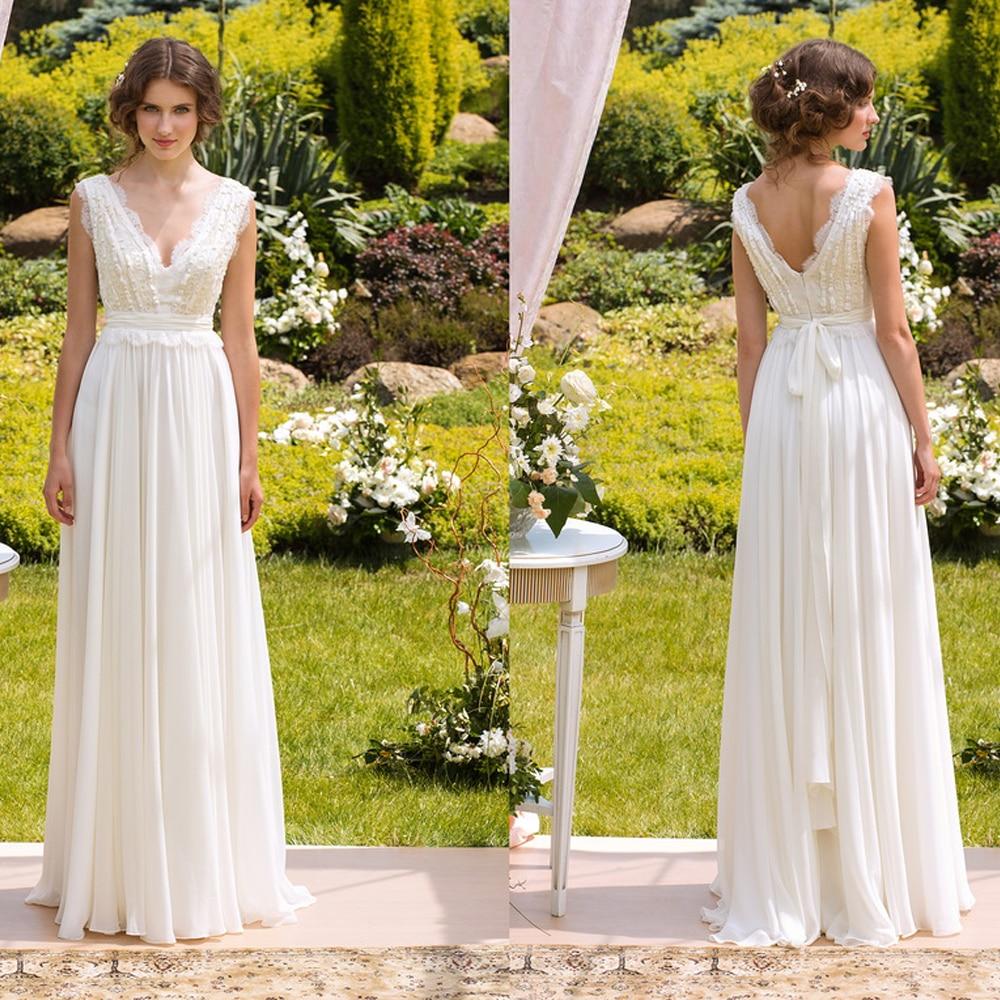 Vestido de novia boda al aire libre