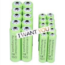 Célula de Bateria Recarregável para a para a LUZ do Flash MAH plus AAA 10X Oolapr Frete Grátis AA 3000 1800 1.2 V 2A 3A Nimh LUZ do Flash Brinquedos Bateria