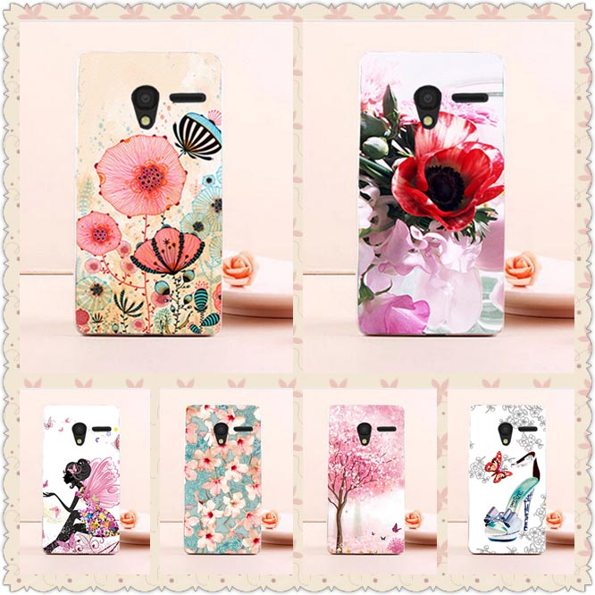 HOT ! Colors Case For Alcatel One Touch Pixi 3 4.5inch 4027X <font><b>4027D</b></font> 4028A 4028E New Patterns Cover Fashion For Alcatel pixi3 4.5' image