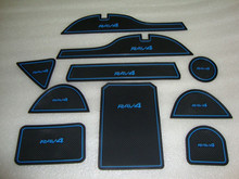 Free Shipping High quality Silica gel Gate slot pad,Teacup pad,Non-slip pad For 2014 Toyota RAV4(10 pcs)