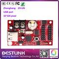 ZH-UN zhognhang 32*320 ПИКСЕЛЕЙ LED контроллер LED Платы Управления USB порт для p10 одноместный/двойной светодиодный дисплей экран