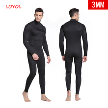 цена на Men Diving Suit 3MM Scuba Diving Wetsuit Neoprene Swimming Jumpsuits Sea Surf Equipment Triathlon Swimsuits Full Bodysuit