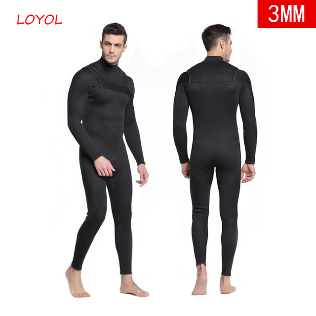 edf462fee0 Men Diving Suit 3MM Scuba Diving Wetsuit Neoprene Swimming Jumpsuits Sea  Surf Equipment Triathlon Swimsuits Full Bodysuit