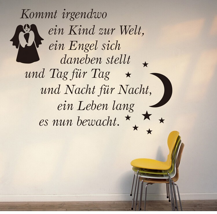 Kommt German Letters Love Quotes Flower Words Wall Sticker