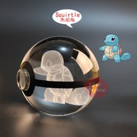 Crystal Ball 3d Laser Squirtle Pokemon Design With Led Light For Gift Pokemon Go Crystal