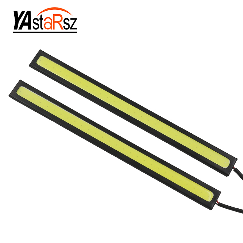 1piece 17cm 100% Waterproof Ultra-thin 20W COB Chip LED Daytime Running Light LED DIY DRL Fog Car Lights Day Running Lights BJ leadtops led daytime running light 2pcs 100% cob chip led diy drl fog car lights car day lamp 12v for audi vw toyota mazda be
