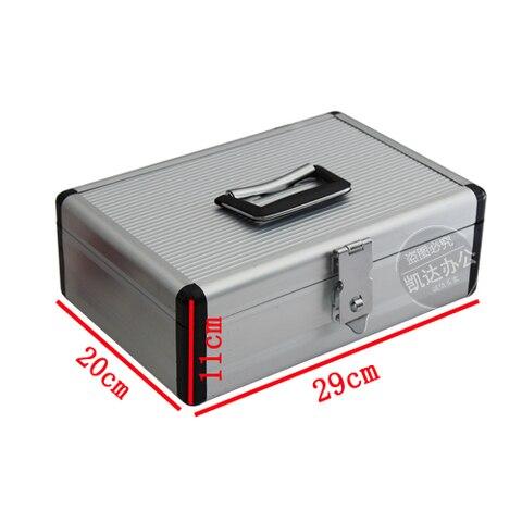caixa de dinheiro aluminio do contador