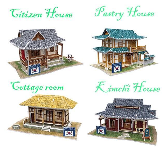 Diy Papier + EPS Große Puppe Haus Modellbau 3D Puzzle Handgefertigte on