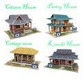 Diy casa de boneca de papel EPS grande modelo de quebra-cabeça 3D de casas de boneca de presente de aniversário presente de natal para crianças