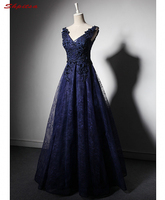 Navy Blue Lace Mother of the Bride Dresses for Weddings A Line Beaded Evening Gowns Formal Godmother Groom Long Dresses