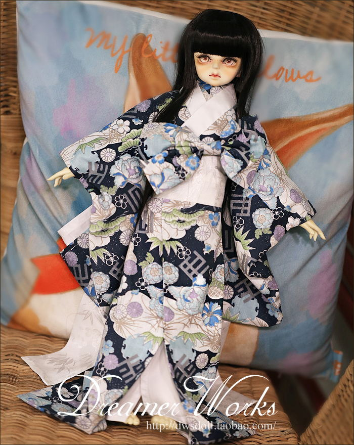 1/4 1/3 scale BJD doll clothing Japanese kimono for BJD/SD EID Women accessory.Not included doll,shoes,wig and other 17C3342