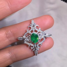 AIGS Fine Jewelry Certificate Real 18K White Gold AU750 Natural Green Emerald 1.61ct Gemstones Pendants for Women Necklace