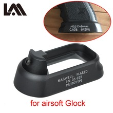 Tactical ALG Defense Flared Magwell For Pistol Airsoft Marui WE KWA Gen3 Glock 17 18C 24 31 34 35 Mount Hunting Gun Accessories