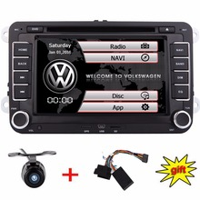 Capacitive Screen Car DVD Player For Volkswagen JETTA/GOLF/POLO/Leon/Host Radio FM GPS Bluebooth Ipod free gps camera+canbus