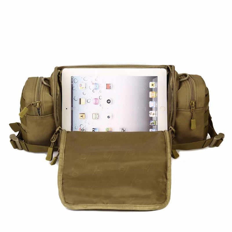 Protector Plus ejército Fans camuflaje multipropósito bolso de mano Cámara pecho paquete Satchel hombres bolsas de mensajero envío gratis D075