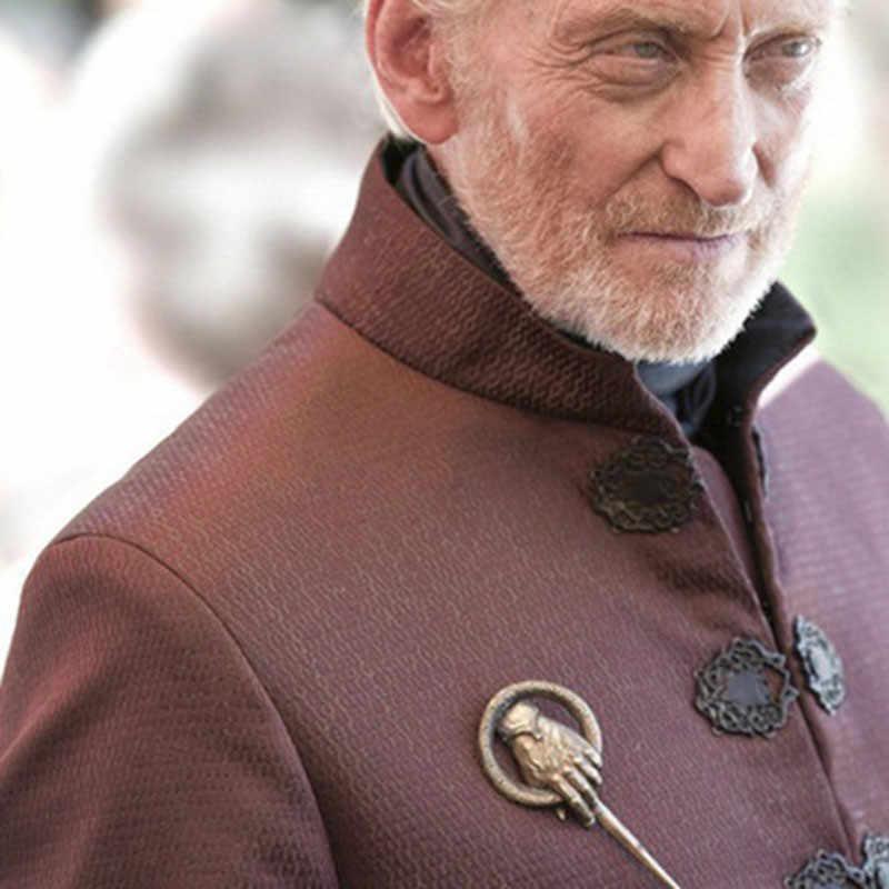Mano del re Spilla degli uomini Dell'annata di Modo Spilla Cronache del Ghiaccio e del Fuoco Game of Thrones Mano del re Gioielli Spilla Accessori