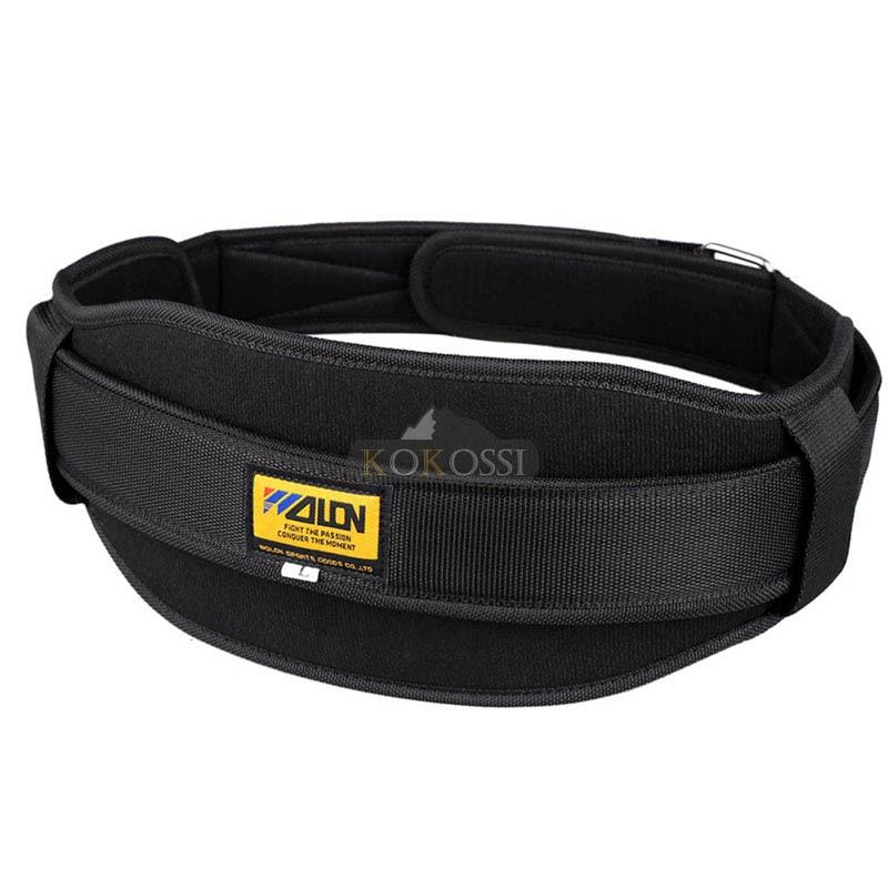 1 piezas de Fitness de levantamiento de pesas cintura ajustable cinturón de soporte Lumbar de Nylon Material cintura soporte de seguridad deporte 308 #