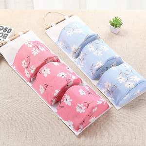 Image 1 - 2019 NEW Organizer Foldable Hanging Pocket Cloth Door Flower Storage Bag Home Household Items Laundry Basket Organizador