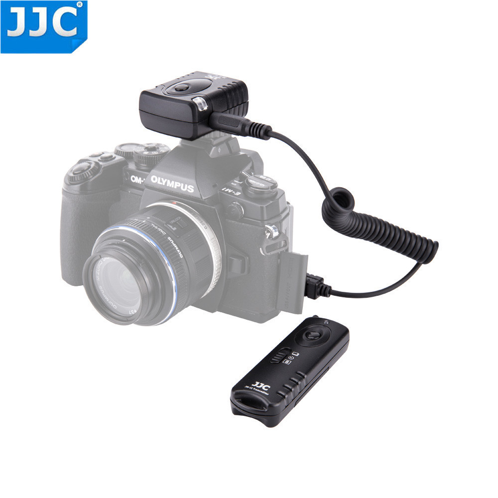 JJC Camera Shutter Release 433MHz Wireless Remote Controller for OLYMPUS OM-D E-M10 Mark III/OM-D E-M5 II/OM-D EM1/PEN F/E-PL8
