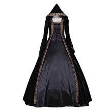 Средневековый стиль ренессанс викторианский платье с капюшоном для взрослых женщин Готический Фантазия платье Хэллоуин вечерние изготовленные на заказ костюмы