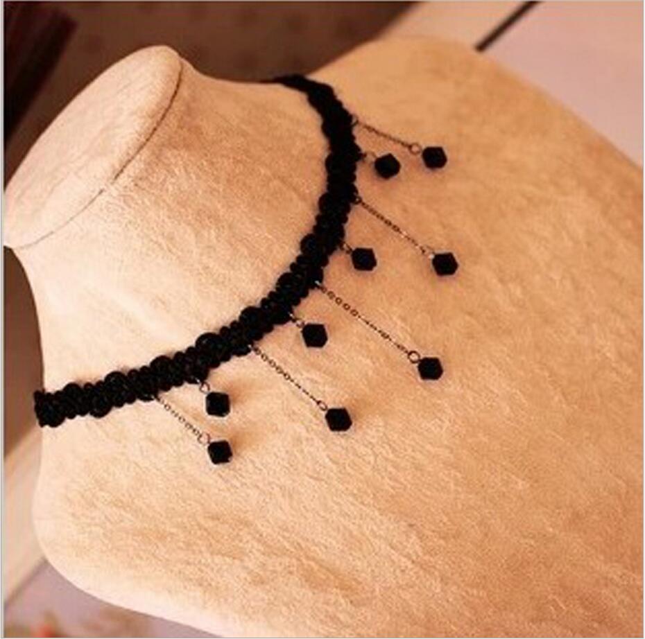 Statement necklace Gothic jewelry lace necklaces & pendants vintage choker necklace women accessories false collar C371