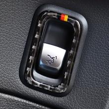 1 Pcs Carbon Fiber Car Rear Trunk Tail Box Switch Frame Trim Sticker Cover For Mercedes Benz C Class W205 C180 C200 C300 GLC for mercedes benz c class w205 c180 c200 c260 glc 2015 2016 screen cover trim car interior accessory