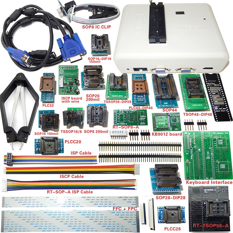 RT809H eMMC NAND Flash programmer +TSOP56 TSOP48 SOP8 TSOP28 adapter with cables emmc-nand 100pcs irf7416 sop8