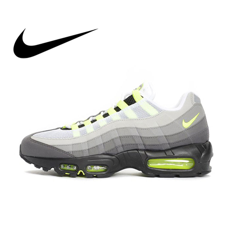 Original Authentic NIKE Air Max 95 OG Men's Running Shoes Comfortable Lightweight Cozy Classic Athletic Designer Footwear 554970
