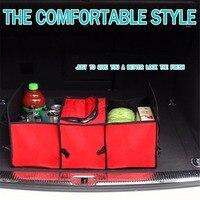 Pieghevole Car Organizer Car Trunk Storage Box con Sacchetto Isolante Foglio di Alluminio-Vano Cargo Trunk Dell'organizzatore di Immagazzinaggio