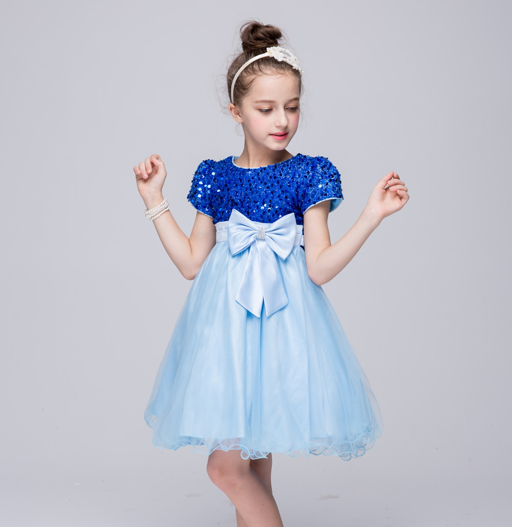 Kids Sequins dresses for girls Frock Designs Evening Princess Wedding Birhtday Party Dress Children Robe Fille For 2 4 6 8 10 Y summer 2017 new girl dress baby princess dresses flower girls dresses for party and wedding kids children clothing 4 6 8 10 year