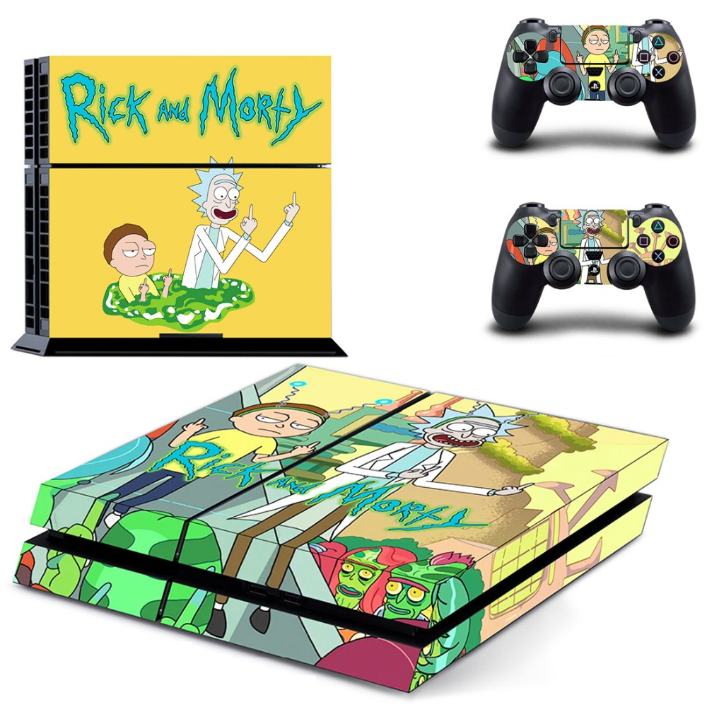 Rick and morty ps4 skin sticker decal for playstation 4 console and 2 controller skins ps4