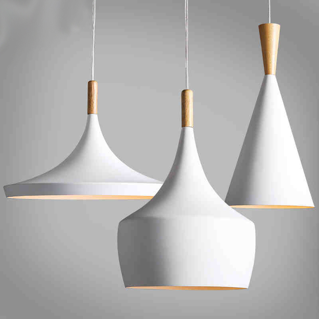 Design by new Pendant Lamp Beat Light new White wooden instrument  Chandelier,3PCS/PACK