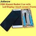 De alta calidad para xiaomi redmi 3 o m3s pantalla lcd + touch screen + frame digitalizador asamblea reemplazo de accesorios para el teléfono
