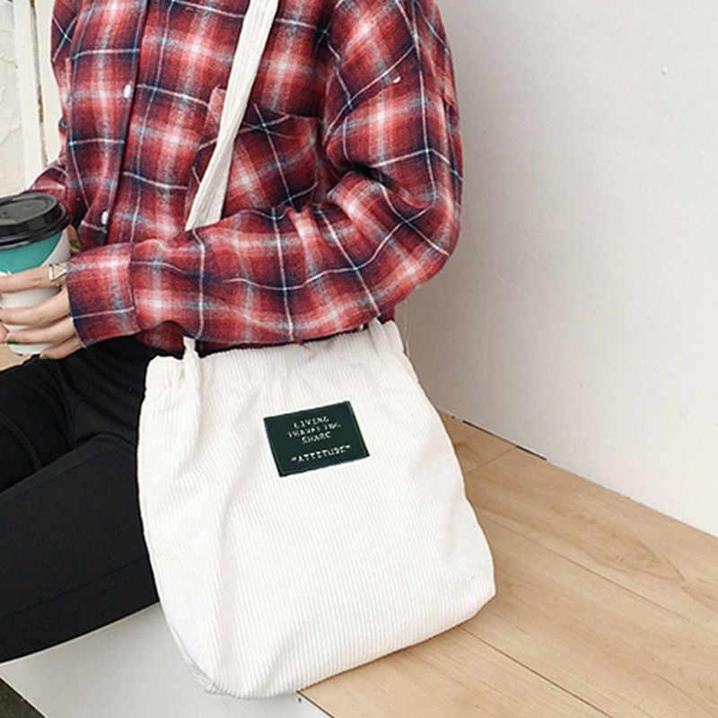 Small Fresh Retro Bag Art Leisure Messenger Corduroy Cloth Factory Direct Retail Whole Women Winter Crossbody
