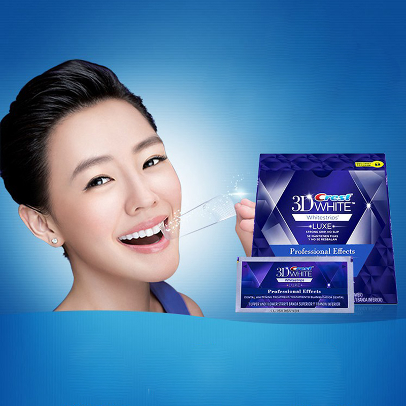 NO BOXES Crest 3D White LUXE Whitestrips teeth whitening 10 Pouches (20stripes) 3